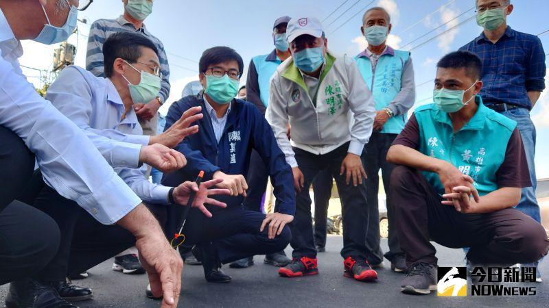 高雄市長陳其邁今(25)到路竹區中興路視察路平成果