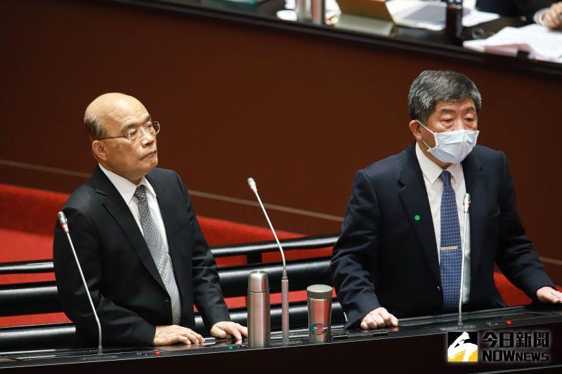 直播/台灣第一針!蘇貞昌、陳時中領頭接種AZ疫苗