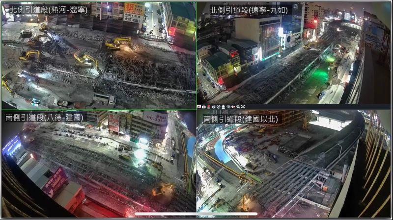 中博高架橋拆除首日 施工進度略超前