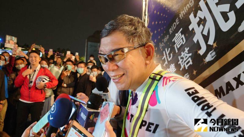 ▲柯文哲說這次凌晨1點出發,整晚沒睡,先騎160公里再回台北,再回來,再騎56公里,加起來實在太累了。(圖/記者鄭婷襄攝,2021.02.28)