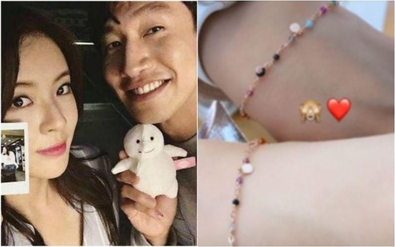 ▲李善彬(左)日前在IG曬出疑似情侶手環的照片。(圖/李善彬IG)