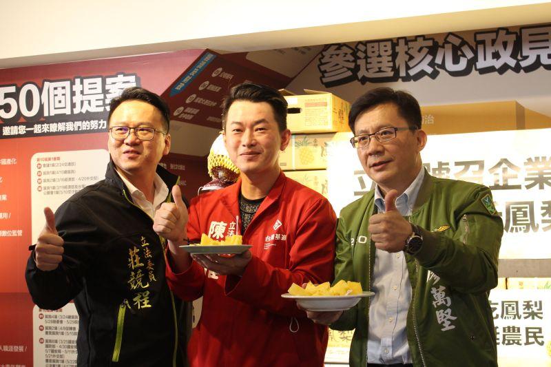 台中立委挺台灣鳳梨 企業認購7萬台斤助果農