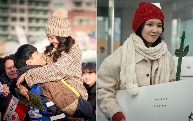 ▲秀英(右)片中跟男友雪地裡談戀愛。(圖/華映娛樂)