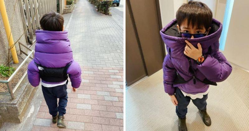 ▲近期一位日本小學生將這普通的穿搭升級成前衛的時尚,吸引世界各地網友的目光。(圖/擷取自推特@yukicoco4)
