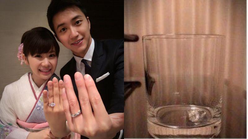 ▲福原愛照片中的戒指(右圖)疑似就是婚戒。(圖/江宏傑臉書、福原愛微博)