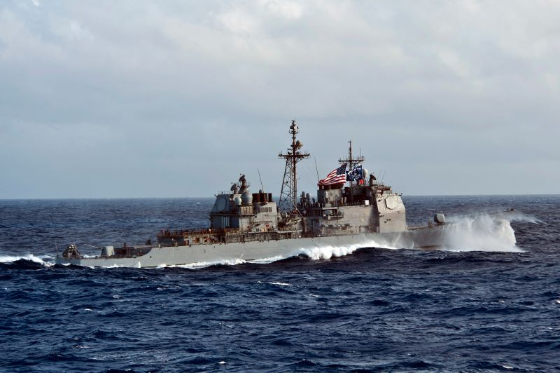 ▲美國海軍提康德羅加級巡洋艦莫比爾灣號(Mobile Bay)。(圖/美國海軍)