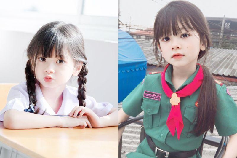 「天使臉孔」6歲女童爆紅 泰國網友:神仙顏值!