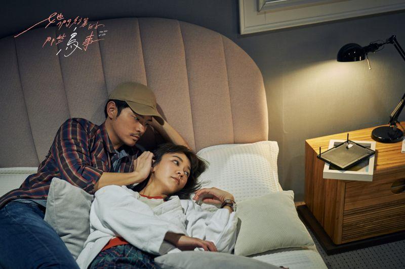 ▲陳意涵飾演的夏芷陪伴宥勝飾演的武樹抗癌。(圖/可米傳媒提供)