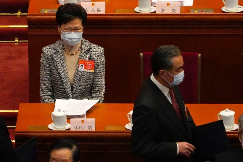 韓正接見林鄭:盼港府認真落實好香港選制修改