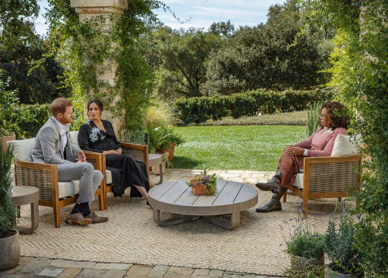 哈利王子/英國王室/梅根/歐普拉 CBS /AP 美聯社
