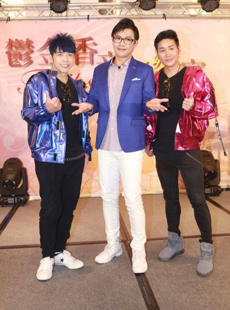 ▲東諺(左起)、陳思瑋、阿文開唱壓力大。(圖/長興影視提供)