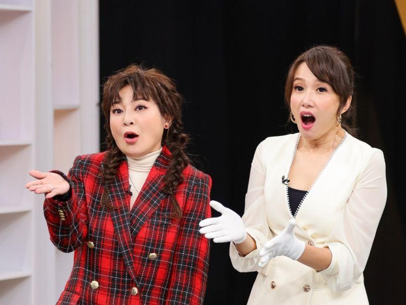 ▲王彩樺(左)鑽戒在丁靜怡節目鑑定出破損。(圖/JET)