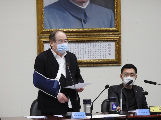 影/拚連任國民黨主席 江啟臣中常會秀上任週年大事記