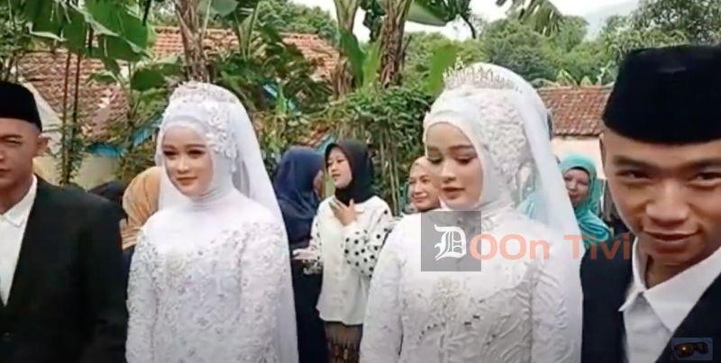 ▲在印尼有一對雙胞胎兄弟愛上另外一對雙胞胎姊妹,而這兩對情侶近日更在同一天完成婚禮,形成相當特殊罕見的2對雙胞胎夫妻。(圖/翻攝自 Doon Tivi YouTube)