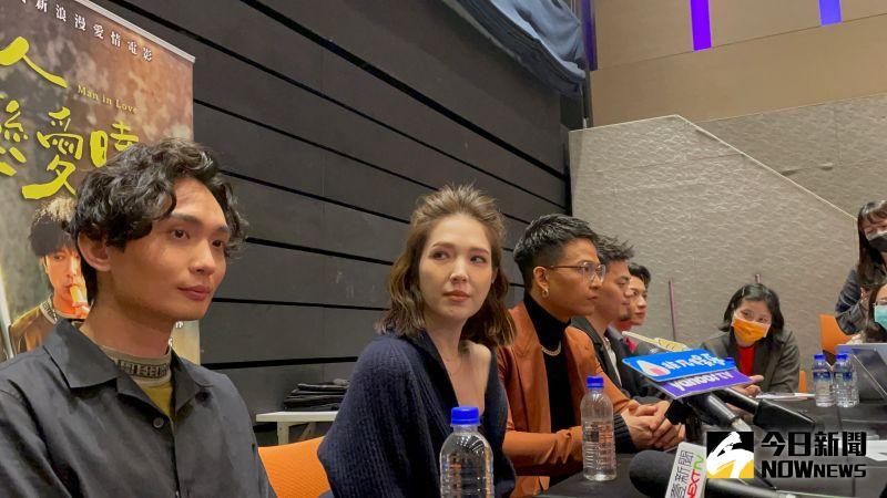 許瑋甯分享拍攝電影時的趣事。(圖/記者吳雨婕攝, 2021.03.14)