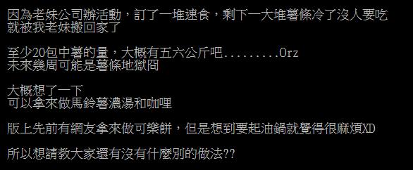 ▲網友在PTT提問「隔夜薯條如何重回美味?」釣出內行分享「起死回生撇步」。(圖/翻攝自PTT)