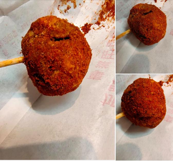 ▲一名女網友訂了鹹酥雞外送,結果餐點打開後竟驚見「1串荔枝」,讓她瞬間看傻。(圖/翻攝自臉書社團《爆怨公社》)