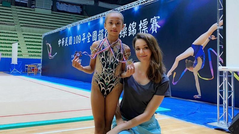 ▲瑞莎近年來投入台灣的韻律體操,還成立了瑞星韻律體操協會,希望能幫助更多台灣的選手。(圖/官方提供)