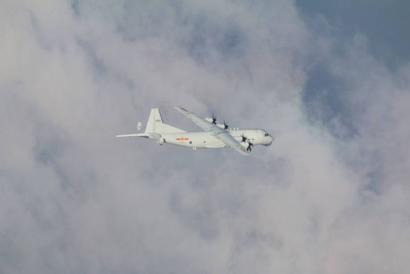 ▲共機1架次運8反潛機再擾台。(圖/國防部提供)