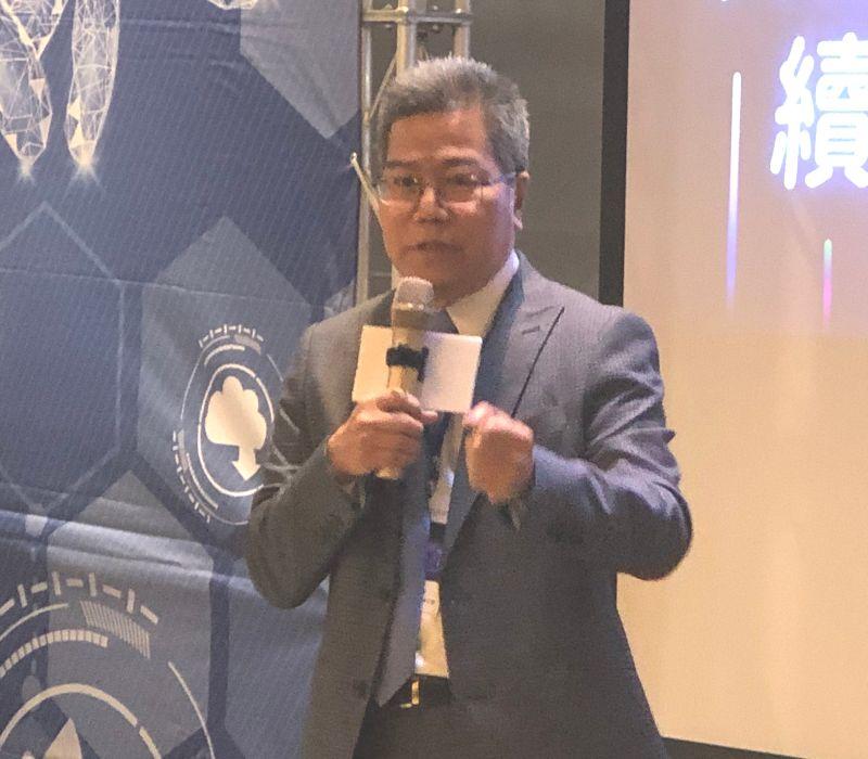 ▲科技產業發展5G與AIOT技術論壇活動,由台灣加工出口區電機電子公會理事長周光春主持。(圖/記者黃守作攝,2021.03.18)