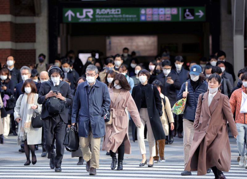 日本街景/JR火車站/東京/日本/Japan/美聯社