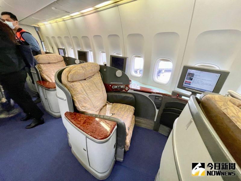 ▲機上除了經濟艙及商務艙之外,還配置國籍航空中唯一的頭等艙。(圖/記者陳致宇攝)