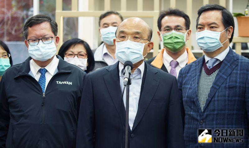 ▲蘇貞昌表示,已經交由專業醫生評估過身體,週一將施打疫苗。(圖/記者李春台攝,2021.03.21)