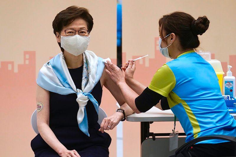 香港特首林鄭月娥 科興 新冠疫苗