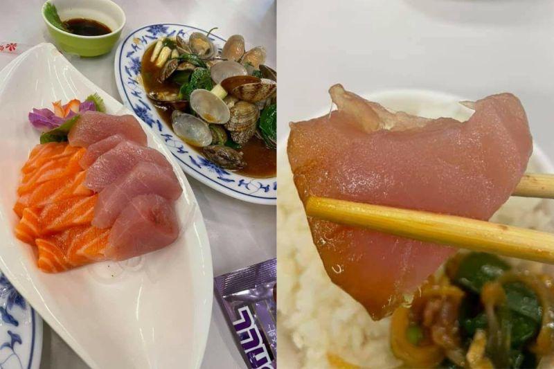 ▲一名網友到宜蘭礁溪的某間快炒店用餐,當天點了一盤要價280元的10片綜合生魚片,但一咬卻讓他不滿直呼「都是生魚片」。(圖/翻攝爆料公社臉書)