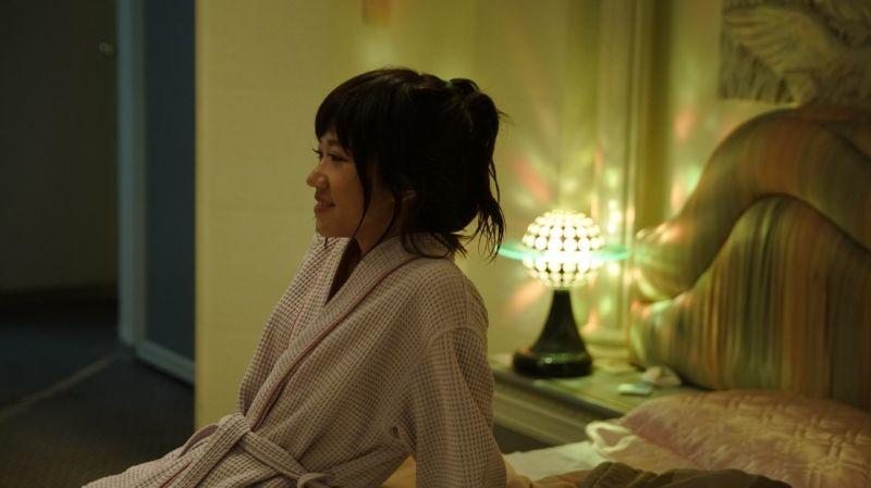 ▲Lulu黃路梓茵在電影《當男人戀愛時》中,與邱澤有床戲。(圖/金盞花大影業提供)