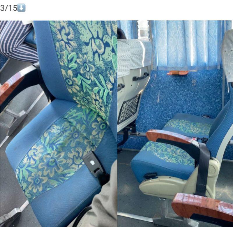 ▲女網友PO出3月15日搭乘高鐵接駁車的照片。(圖/翻攝自《Dcard》)