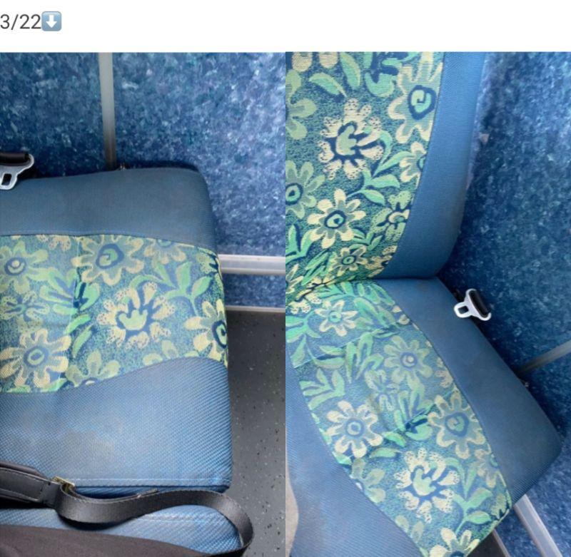 ▲女網友PO出3月22日搭乘高鐵接駁車的照片。(圖/翻攝自《Dcard》)