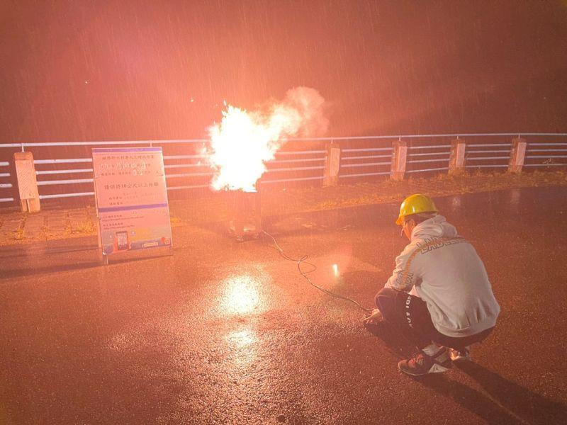 ▲水利署今日凌晨在桃竹苗等水庫進行人工增雨。(圖/水利署提供)