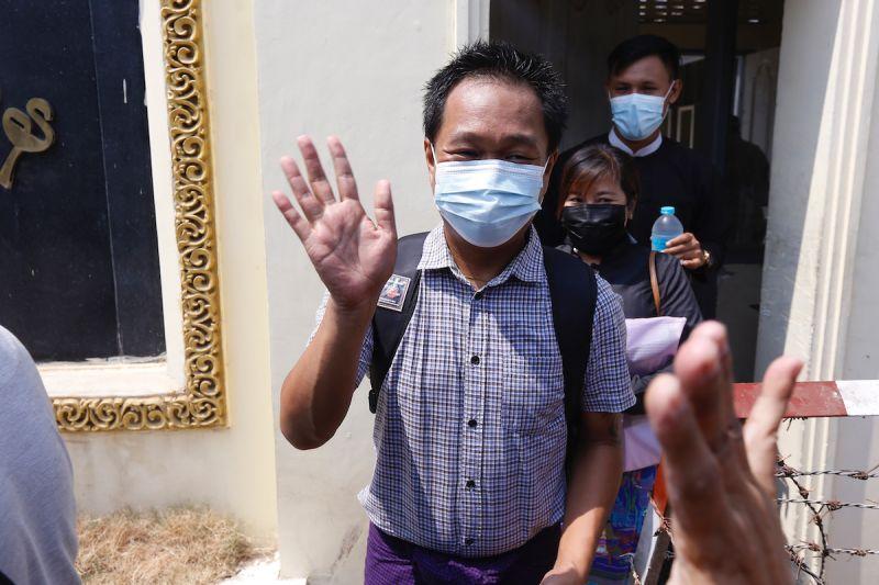 ▲被關押在仰光的《美聯社》記者譚梢(Thein Zaw)今(24)日獲釋。(圖/美聯社/達志影像)