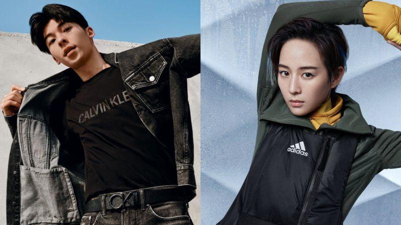 ▲許光漢(左圖)、張鈞甯宣布和Calvin Klein Jeans及Adidas中止合作。(圖/許光漢臉書、adidasWomen微博)