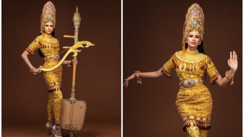 ▲2020年馬來西亞萬國小姐冠軍Jasebel Robert近日把馬來西亞傳統服飾穿上身,華麗的服飾背後靈感源自馬來西亞國寶藝術「瑪蓉舞」。(圖/翻攝自IG)