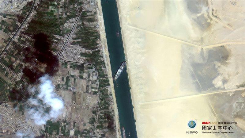 長榮海運「長賜輪」於蘇伊士運河擱淺
