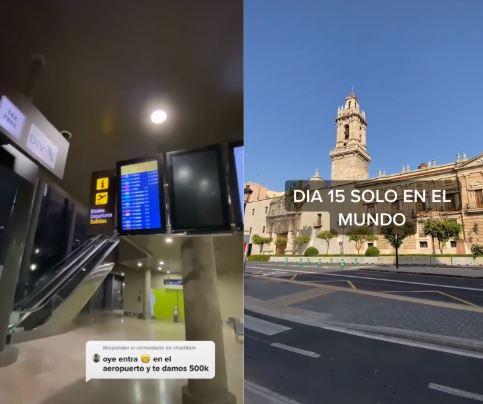 ▲西班牙一名網友聲稱自己穿越到2027年,並拍下街景上傳影片。(圖/抖音)