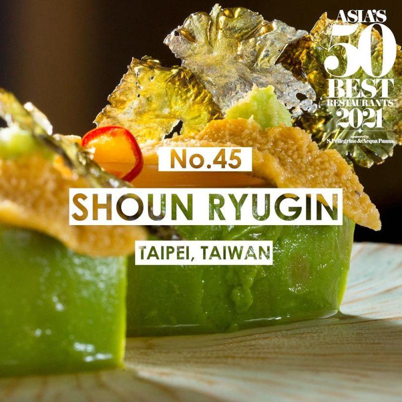 ▲祥雲龍吟已連續三年入榜,被譽為「台灣最好日料餐廳」的祥龍吟雲於2018-2020連續三年獲米其林二星。