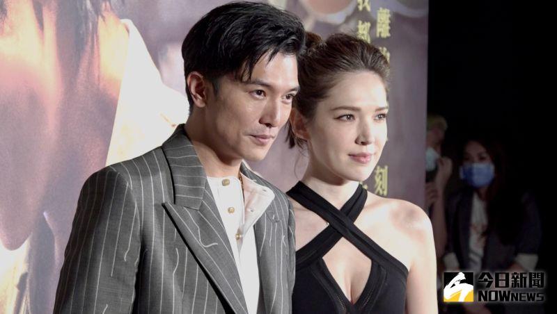 ▲邱澤(左)跟許瑋甯出席首映會。(圖/記者陳思誼攝)