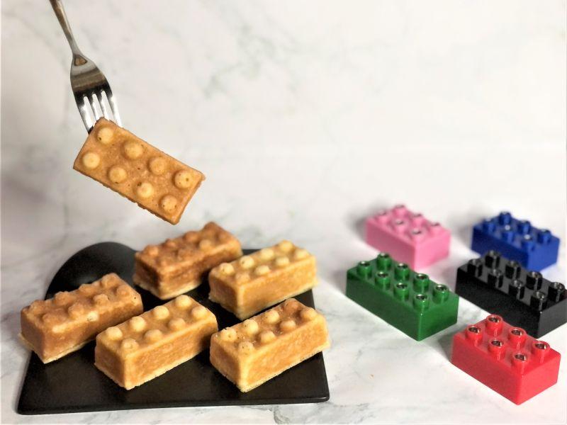 ▲兆品酒店礁溪於兒童節特別推出三種口味的「積木雞蛋糕」。(圖/兆品酒店礁溪提供)