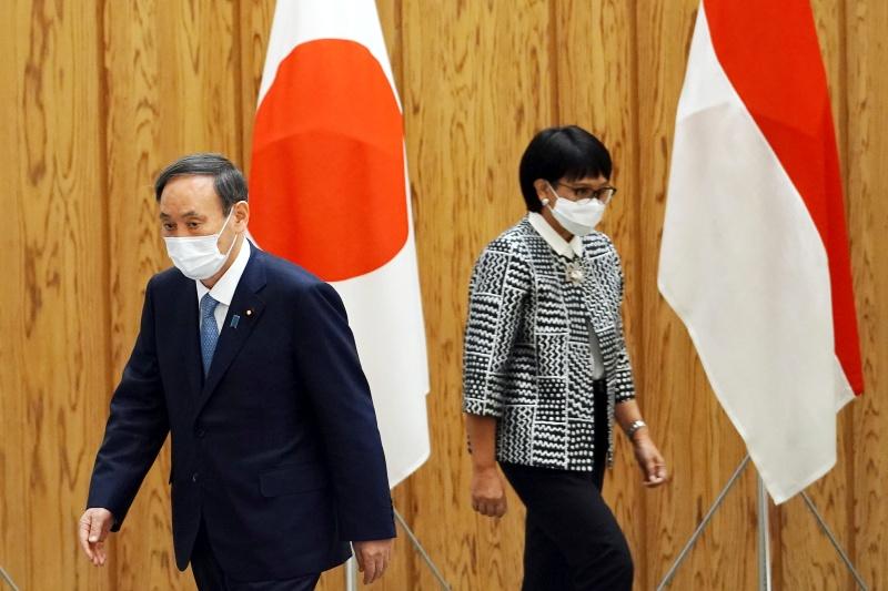 ▲日本與印尼30日在東京舉行「外交及國防部長會議」(2加2會談),簽署由日本提供防衛裝備及技術的協定。雙方同意加強安全保障領域合作,牽制擴大海洋行動的中國。(圖/美聯社/達志影像)