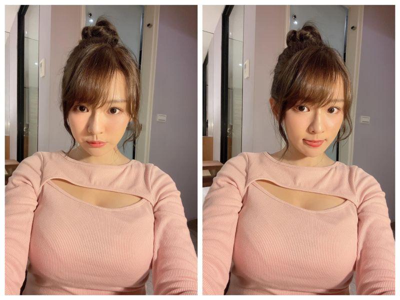 ▲林莎有「無害女友」、「台版三上悠亞」封號。(圖/林莎臉書、IG)