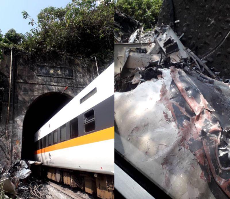 台鐵408次太魯閣號出軌!乘客曝「原因」:是貨車掉下來