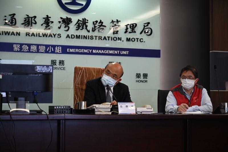 蘇揆:台鐵高風險軌道 2月內建立防護