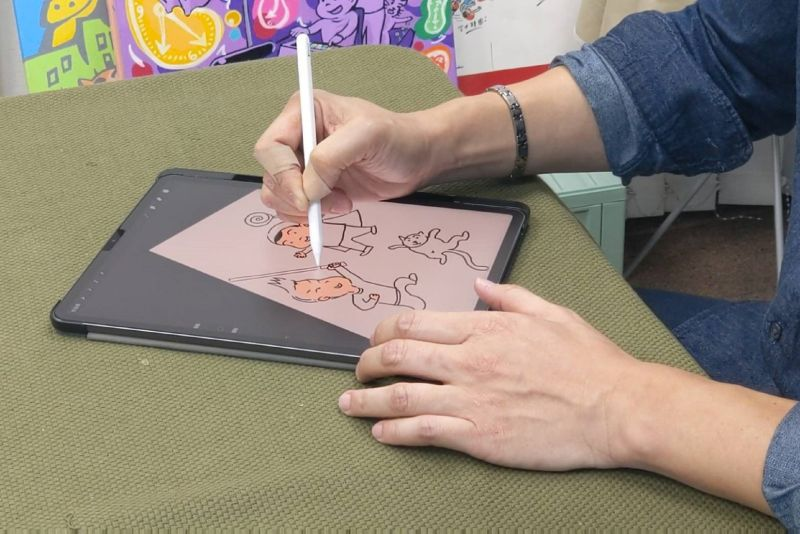 ▲蔣偉文的卡通皆以數位方式繪製而成。(圖/艾迪昇傳播提供)