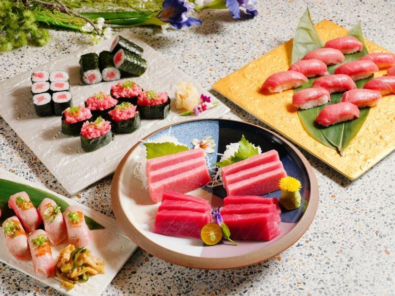 ▲旭集推出「第一鮪限定五品料理」與iEAT饗愛吃黑卡會員們尊榮分享。(圖/饗賓餐旅提供)