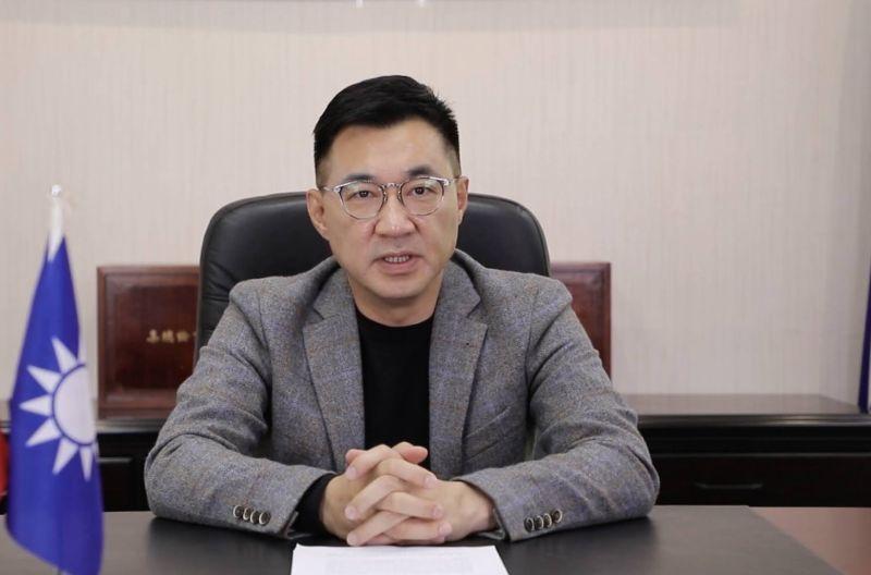 ▲國民黨主席江啟臣受邀參加國際民主聯盟全球線上論壇,他說,「競爭和合作並存」是當前兩岸間唯一可行的互動模式。(圖/國民黨提供)