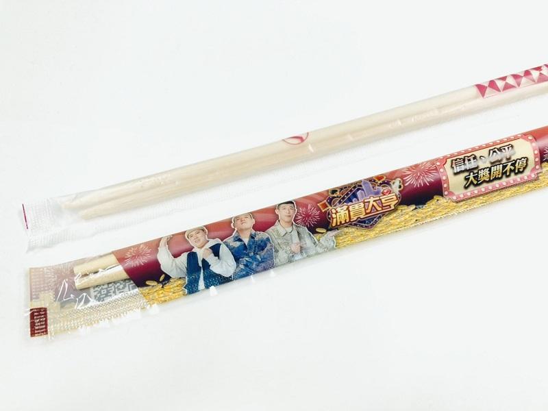 ▲「免洗筷包裝」搖身一變,也能成為承載資訊的平台。(圖/達奇傳媒提供)