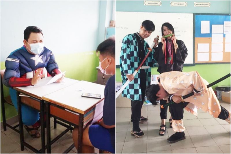泰國高中老師面試新生爆紅 老師們卡通變裝角色有這些